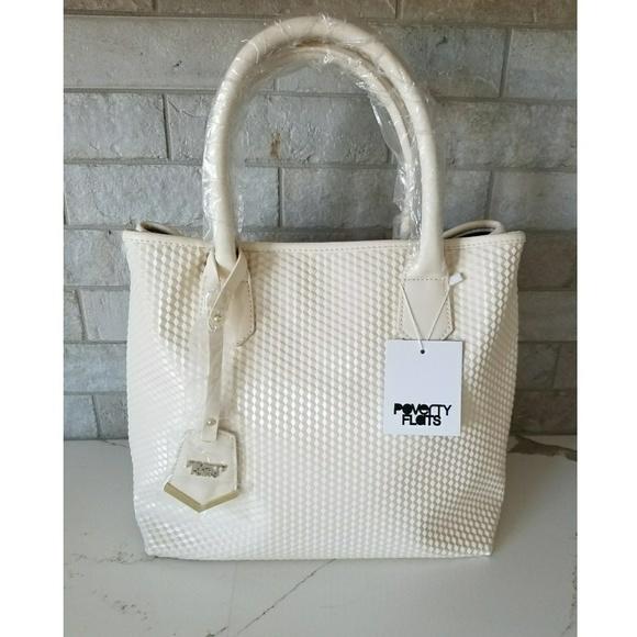 Poverty Flats Handbags - NWT Poverty Flats geometric textured tote